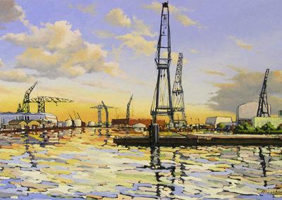 Wilhelminahaven, olieverf op linnen, 130 x 80 cm, 2010 (verkocht)