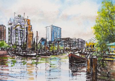 Oude Haven, Witte Huis, Rotterdam, scheepvaartmuseum, kubuswoningen, margot maaskant, schip, schepen