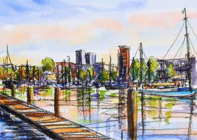 Margot Maaskant, Veerhaven, Rotterdam, hoge heren, parklaan, jachthaven
