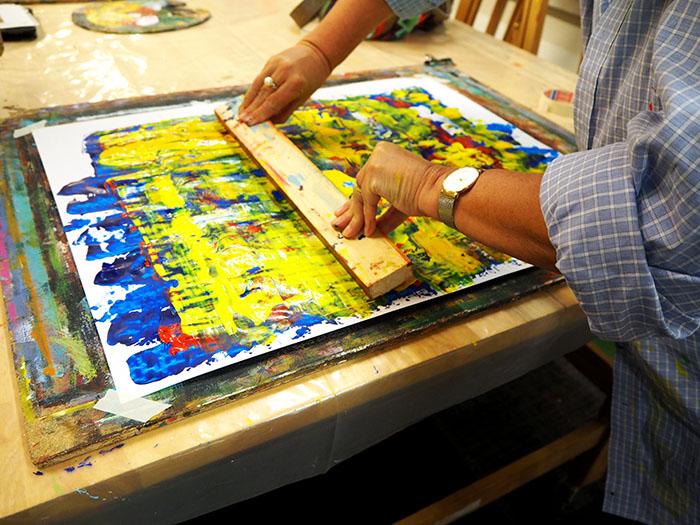 Margot Maaskant, geïnspireerd door landschapschilders